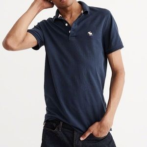 NWT Abercrombie and Fitch Navy Polo